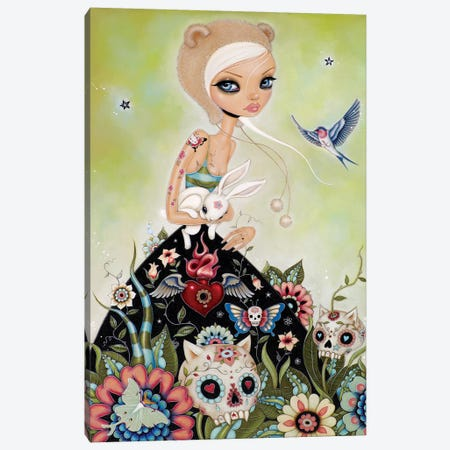 White Rabbit Canvas Print #CAI49} by Caia Koopman Art Print