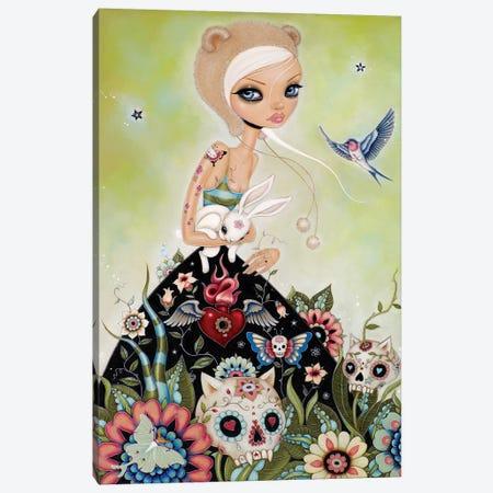 White Rabbit Canvas Print #CAI49} by Caia Koopman Art Print