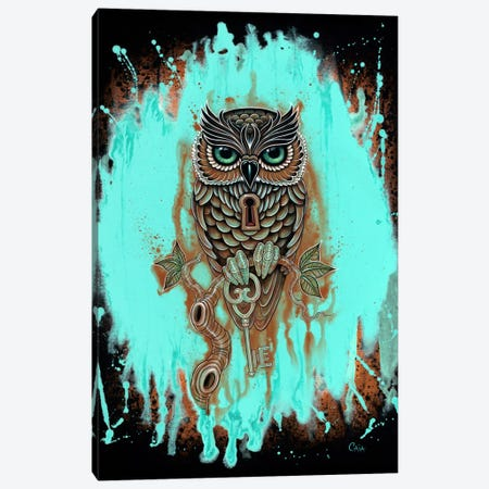 Bubo's Key Canvas Print #CAI4} by Caia Koopman Canvas Wall Art