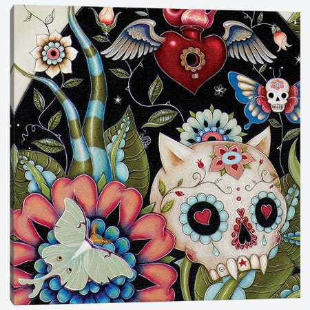 Bottom Left Half In Zoom, White Rabbit Canvas Print #CAI50} by Caia Koopman Canvas Art