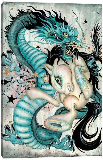 Epic Battle Canvas Art Print