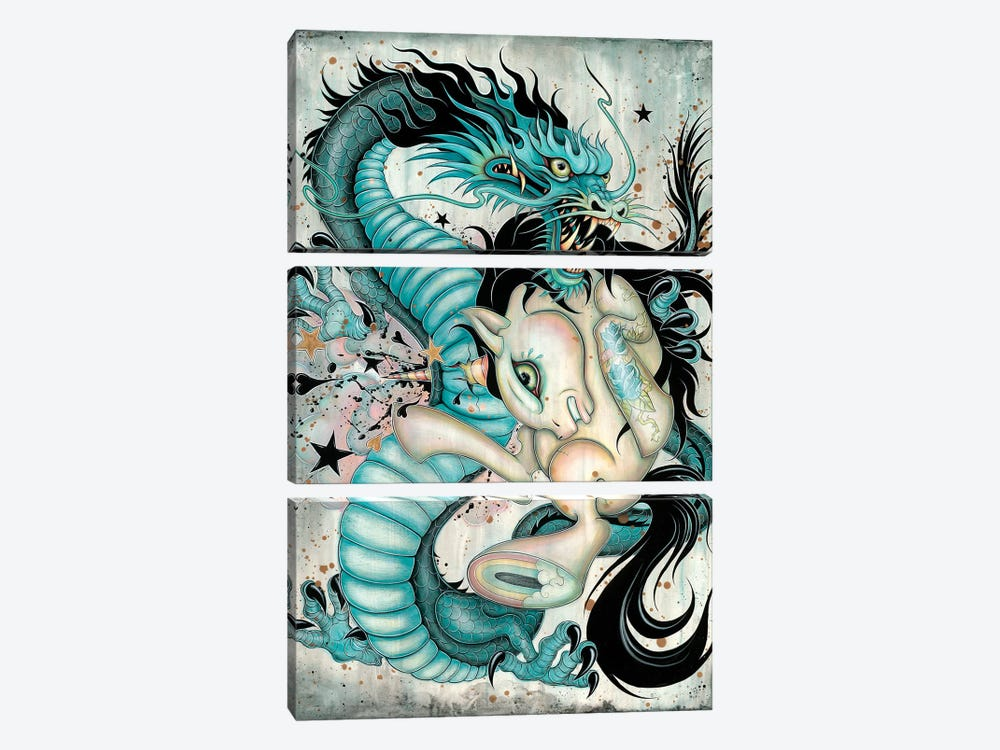 Epic Battle by Caia Koopman 3-piece Canvas Artwork
