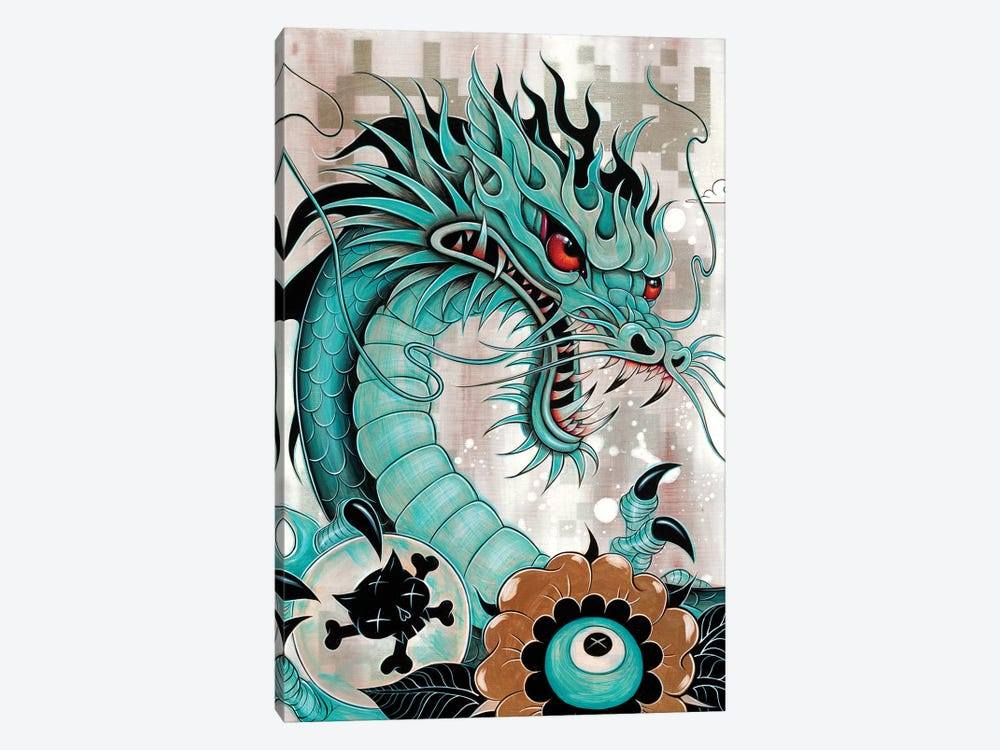 Detail of Dragon, Liberty & Blaze by Caia Koopman 1-piece Canvas Print