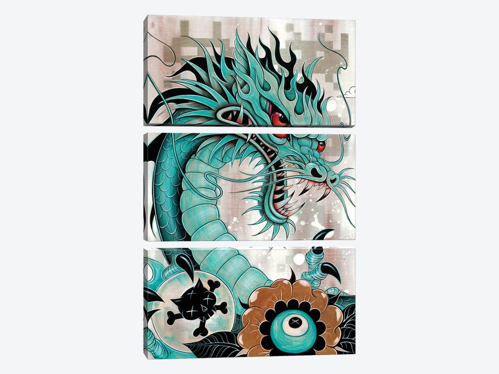 Detail of Dragon, Liberty & Blaze by Caia Koopman 3-piece Art Print