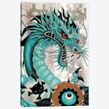 Detail of Dragon, Liberty & Blaze Canvas Print #CAI53} by Caia Koopman Canvas Wall Art