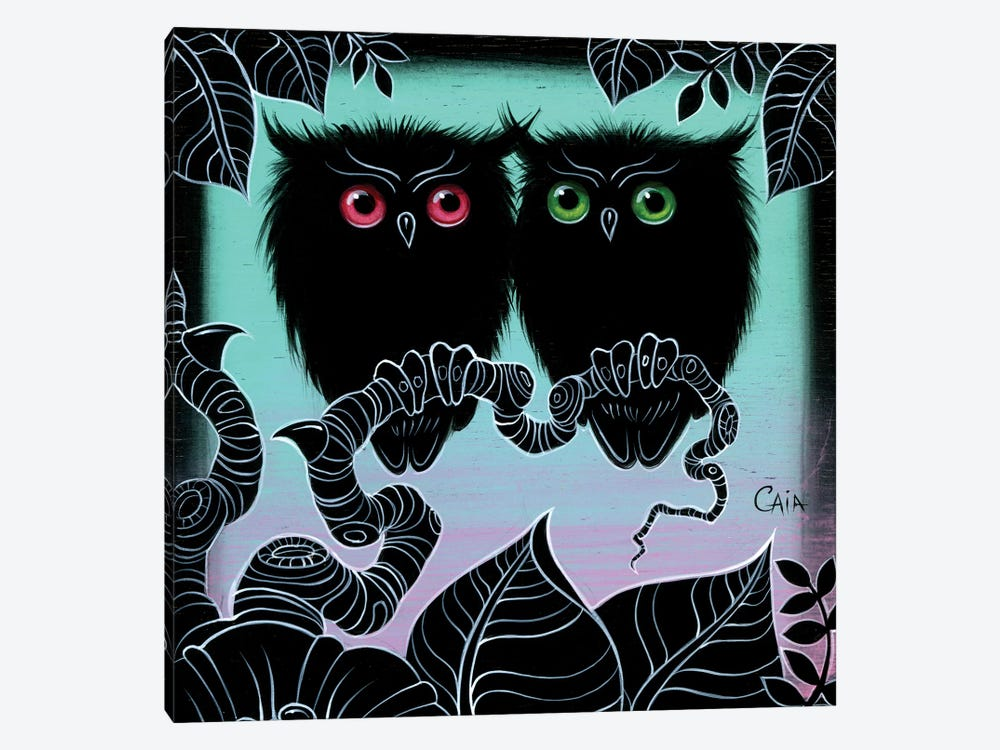 Mini 2 Hoots by Caia Koopman 1-piece Canvas Print