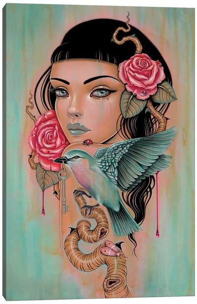 Sanguine Skein Canvas Art Print