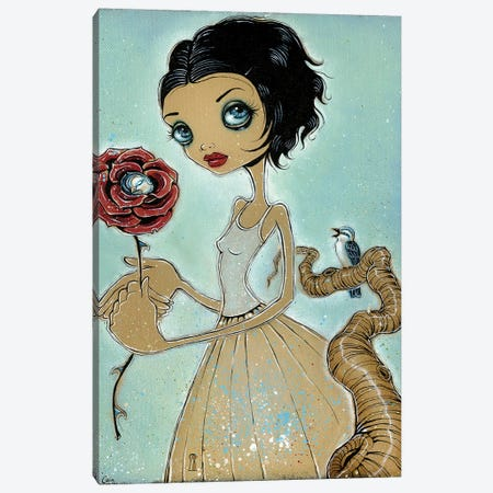 Bird Of The Rose Canvas Print #CAI58} by Caia Koopman Canvas Art