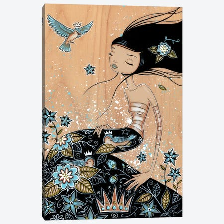 Blue Snooze Canvas Print #CAI59} by Caia Koopman Canvas Art
