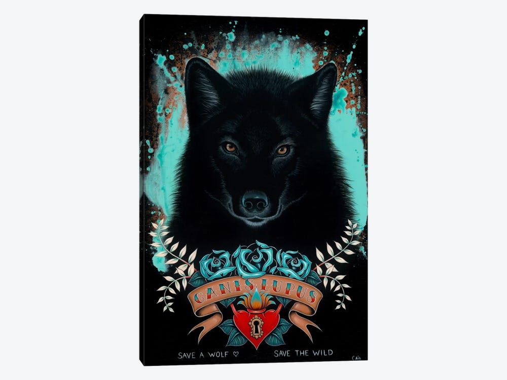 Canis Lupus by Caia Koopman 1-piece Canvas Wall Art