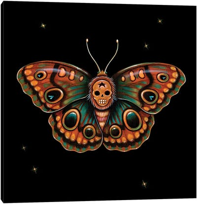 Calavera Lepidoptera Canvas Art Print