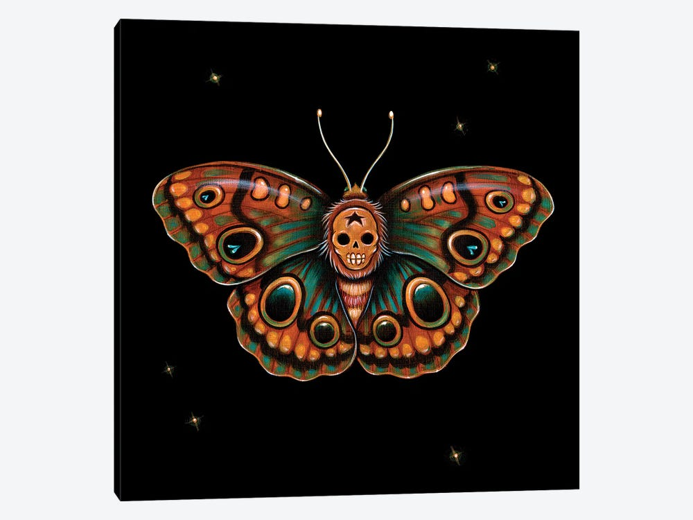 Calavera Lepidoptera by Caia Koopman 1-piece Canvas Art Print