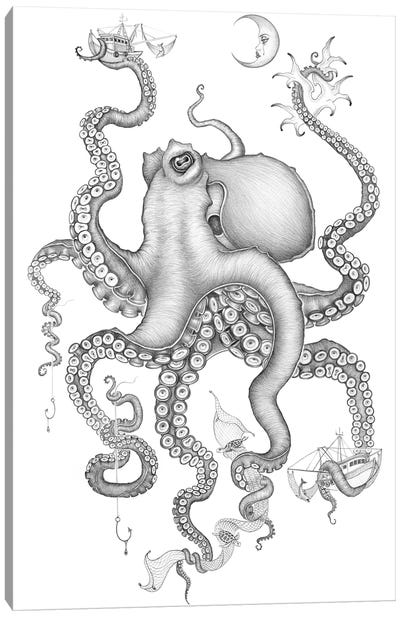 Cephalopod Love Canvas Art Print
