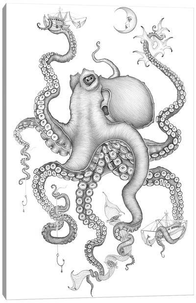 Cephalopod Love Canvas Art Print