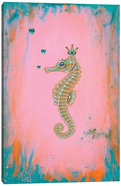 Halcyon Seahorse Canvas Art Print