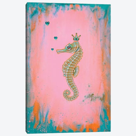 Halcyon Seahorse Canvas Print #CAI64} by Caia Koopman Canvas Wall Art