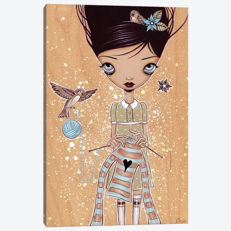 Knitting Canvas Print #CAI65} by Caia Koopman Canvas Wall Art