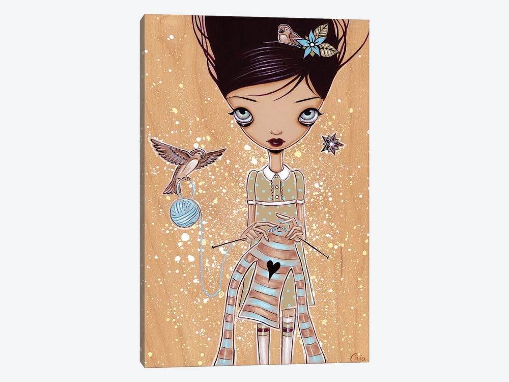 Knitting by Caia Koopman 1-piece Canvas Wall Art