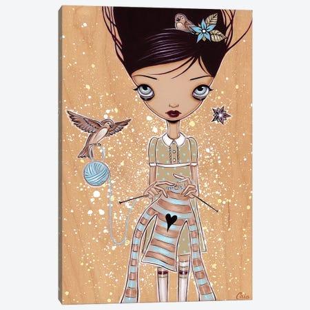 Knitting 3-Piece Canvas #CAI65} by Caia Koopman Canvas Wall Art