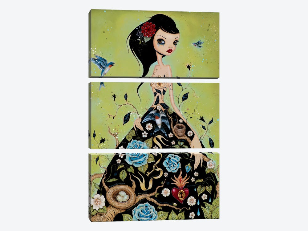 Chemical Girl by Caia Koopman 3-piece Canvas Art Print