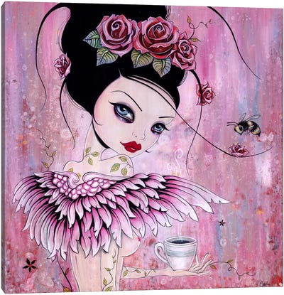 Coffee Angel Canvas Print #CAI9