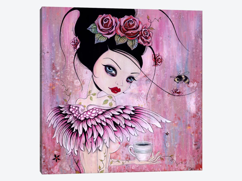 Coffee Angel by Caia Koopman 1-piece Canvas Artwork