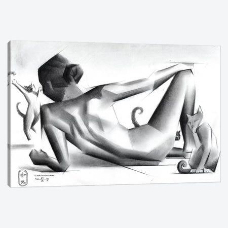 Catwoman Canvas Print #CAK101} by Corné Akkers Canvas Art Print