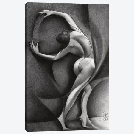 Roundism XXXV Canvas Print #CAK117} by Corné Akkers Art Print