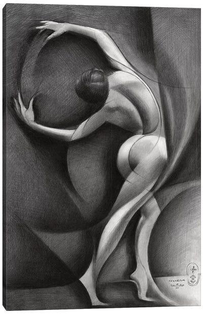 Roundism XXXV Canvas Art Print
