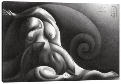 Roundism XXXIX Canvas Art Print