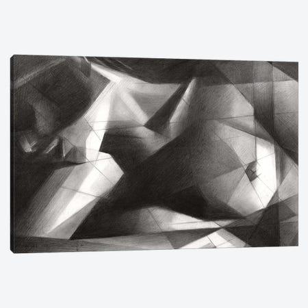 Cubistic Nude I Canvas Print #CAK130} by Corné Akkers Canvas Artwork