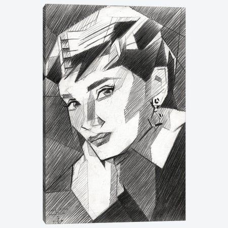 Audrey Hepburn Canvas Print #CAK132} by Corné Akkers Canvas Art