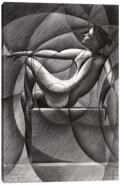Art Deco Nude Canvas Art Print