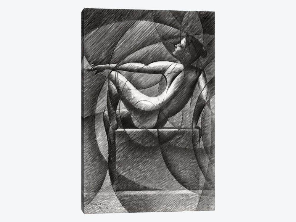 Art Deco Nude by Corné Akkers 1-piece Canvas Print