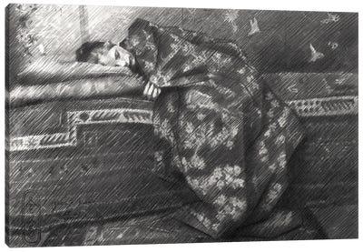 The Kimono Girl Canvas Art Print