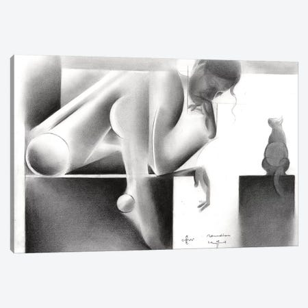 Roundism I Canvas Print #CAK25} by Corné Akkers Canvas Art