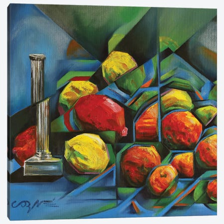 Abstract Fruits Canvas Print #CAK2} by Corné Akkers Canvas Art Print