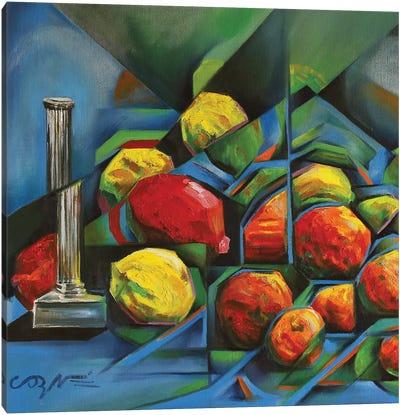 Abstract Fruits Canvas Art Print