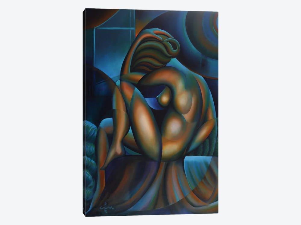 Roundism VIII by Corné Akkers 1-piece Canvas Art Print