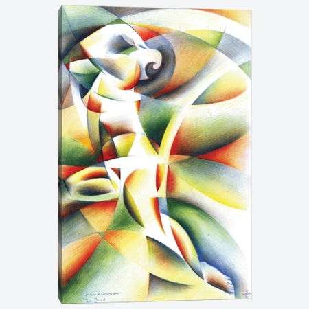 Roundism XI Canvas Print #CAK35} by Corné Akkers Canvas Art Print