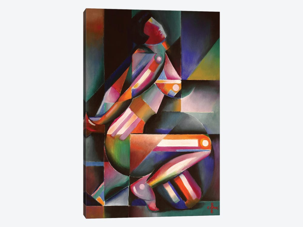 Roundism XIII by Corné Akkers 1-piece Canvas Wall Art