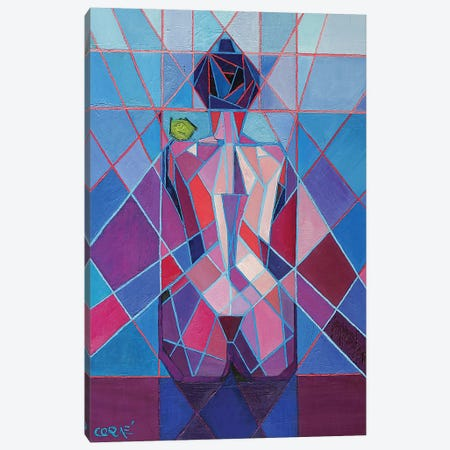 Cubistic Nude IX Canvas Print #CAK53} by Corné Akkers Canvas Artwork