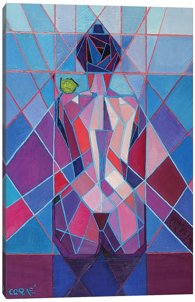 Cubistic Nude IX Canvas Art Print