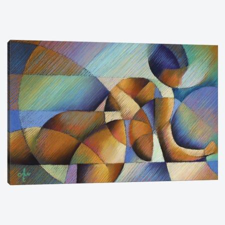 Roundism XX 3-Piece Canvas #CAK56} by Corné Akkers Canvas Print