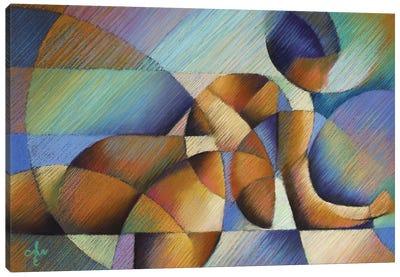 Roundism XX Canvas Art Print