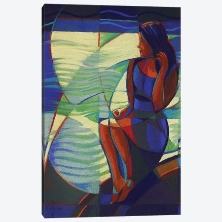 Carthaginian Woman Waiting For Her Sea Hero's Return Canvas Print #CAK5} by Corné Akkers Canvas Wall Art