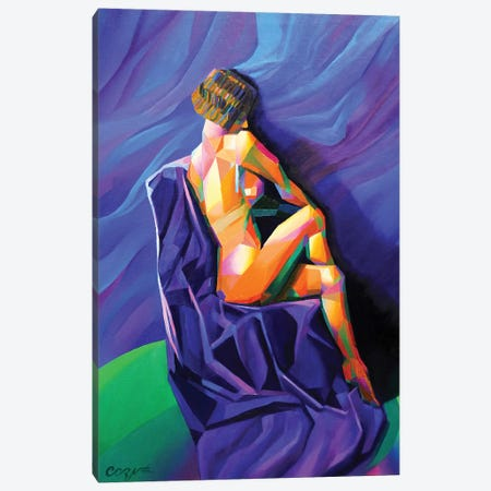 Cubistic Nude I Canvas Print #CAK6} by Corné Akkers Canvas Art