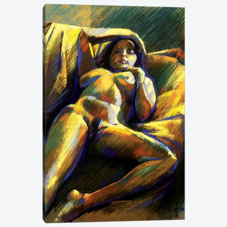 Reclining Nude Canvas Print #CAK73} by Corné Akkers Canvas Artwork