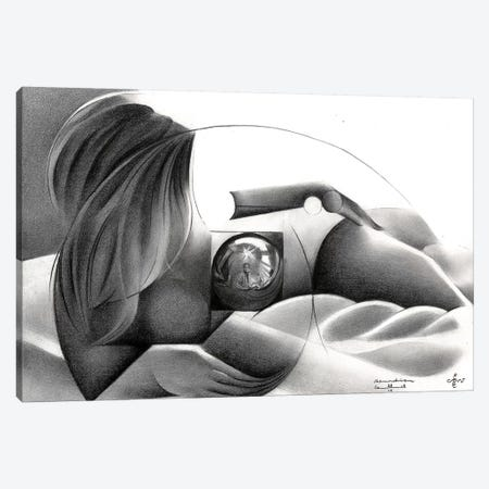 Roundism XXVI Canvas Print #CAK79} by Corné Akkers Canvas Art