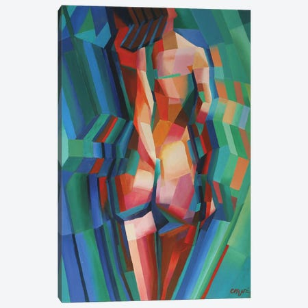 Cubistic Nude II Canvas Print #CAK7} by Corné Akkers Canvas Wall Art